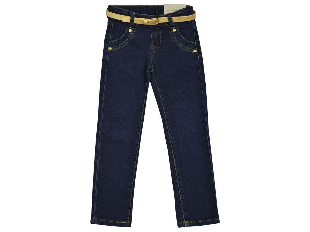 Calça Jeans com Cinto Dourado Lilica Ripilica