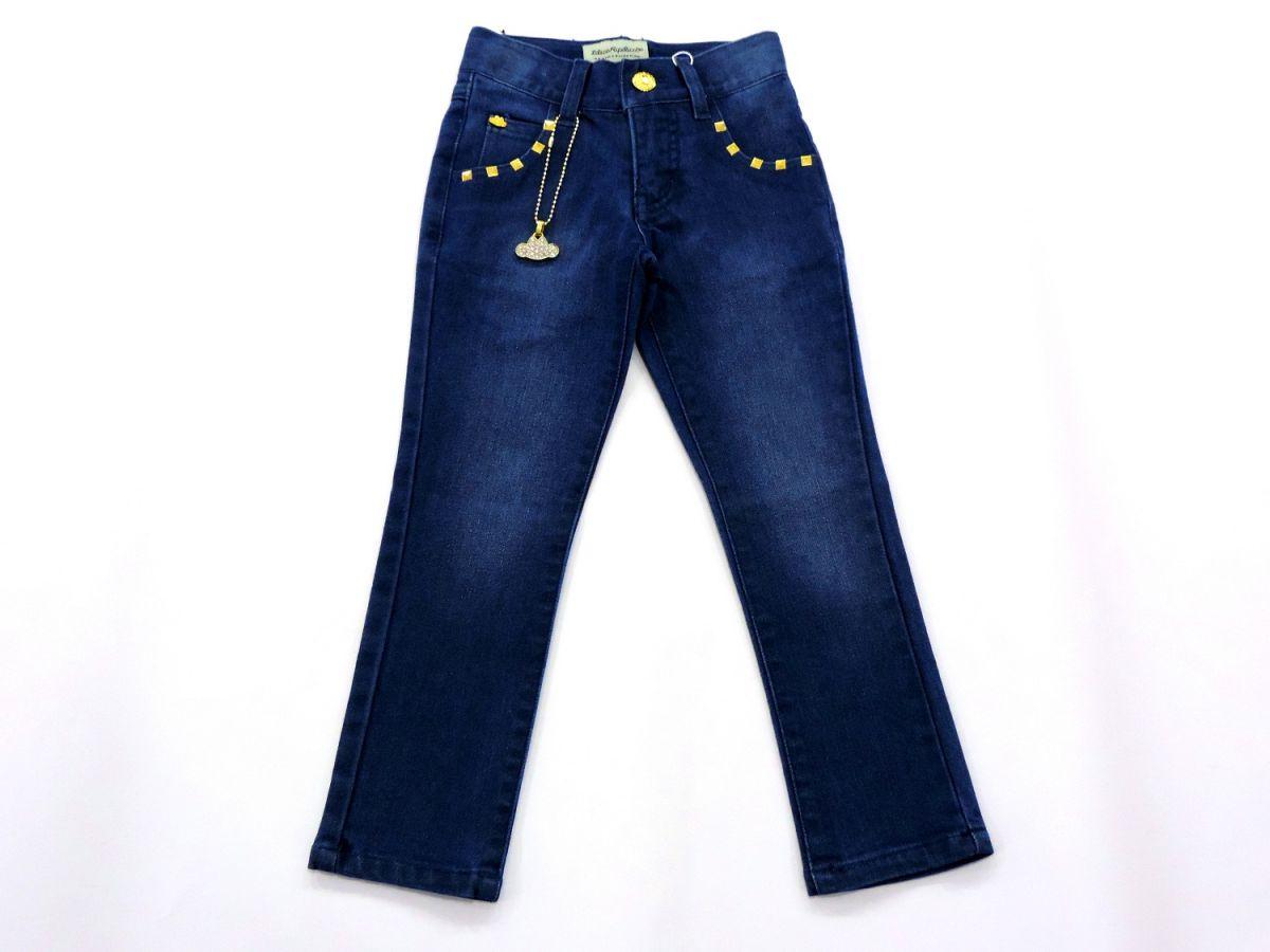 Calça Jeans com Pingente Lilica Ripilica Infantil