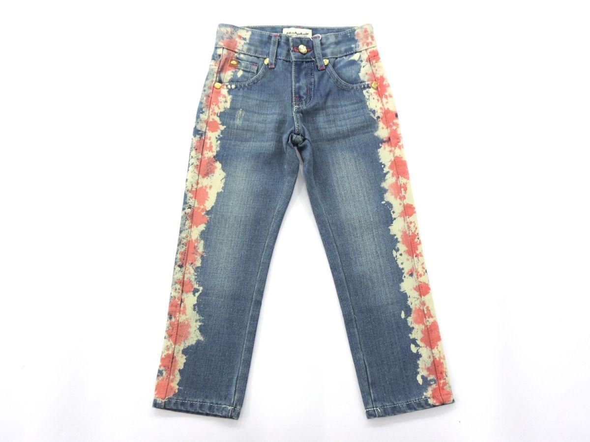 Calça Jeans Estampa Lateral Claro Lilica Ripilica