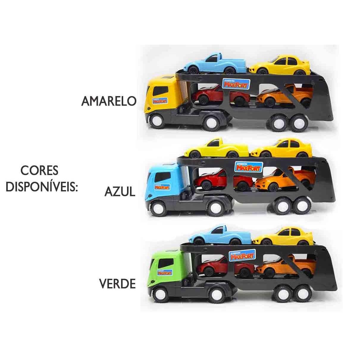Caminhão Carrinho Cegonha Maxfort 5 Peças Xplast 2103
