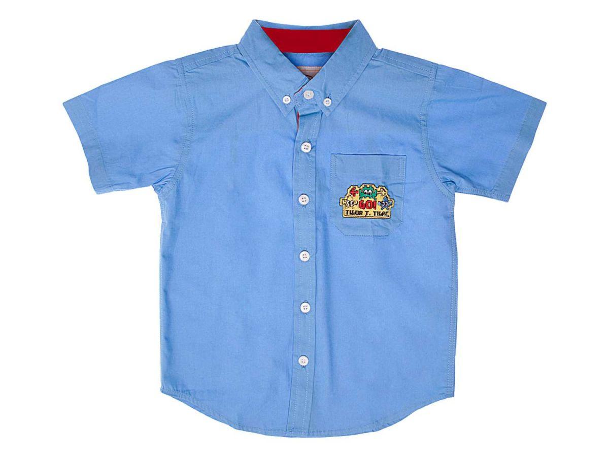 Camisa Azul Tigor T.Tigre Manga Curta