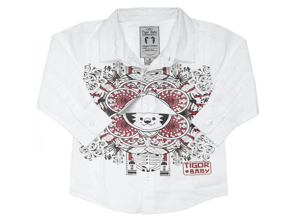 Camisa Com Estampa Tigor Baby Japão