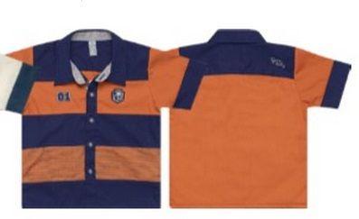 Camisa Masculina Azul E Laranja Tigor T. Tigre