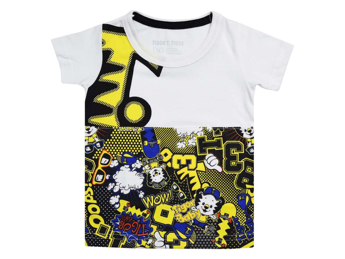 Camiseta Branca Estampada Tigor T.Tigre Baby