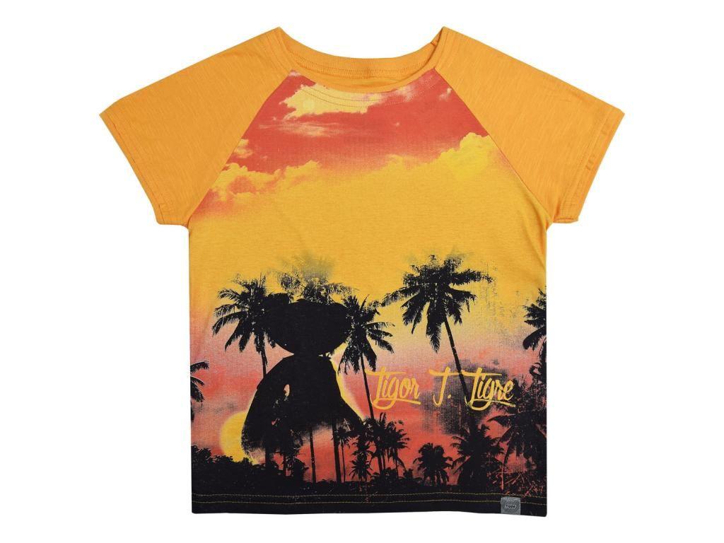 Camiseta Estampada Laranja Tigor T. Tigre
