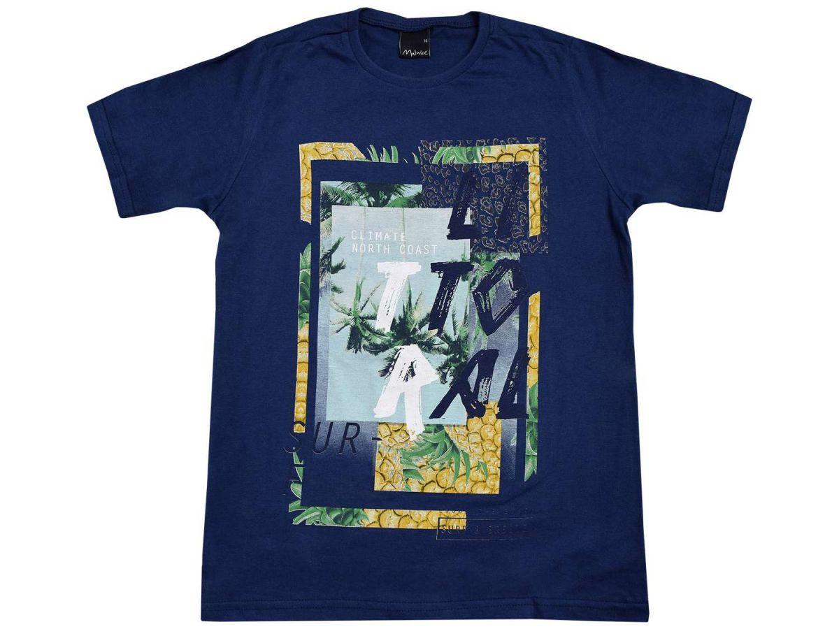 Camiseta Malwee Estampa Coqueiros