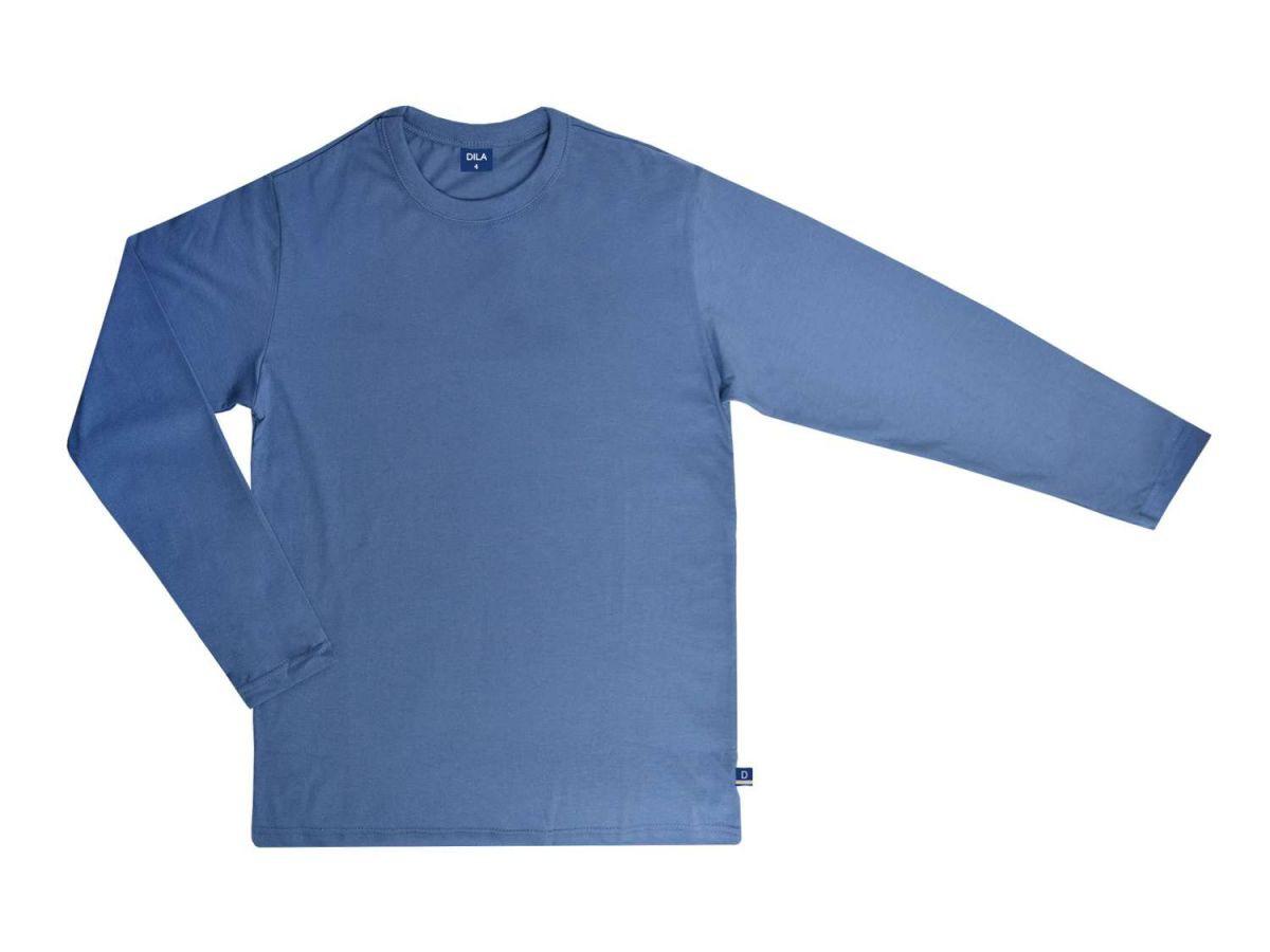 Camiseta Manga Longa Azul Dila