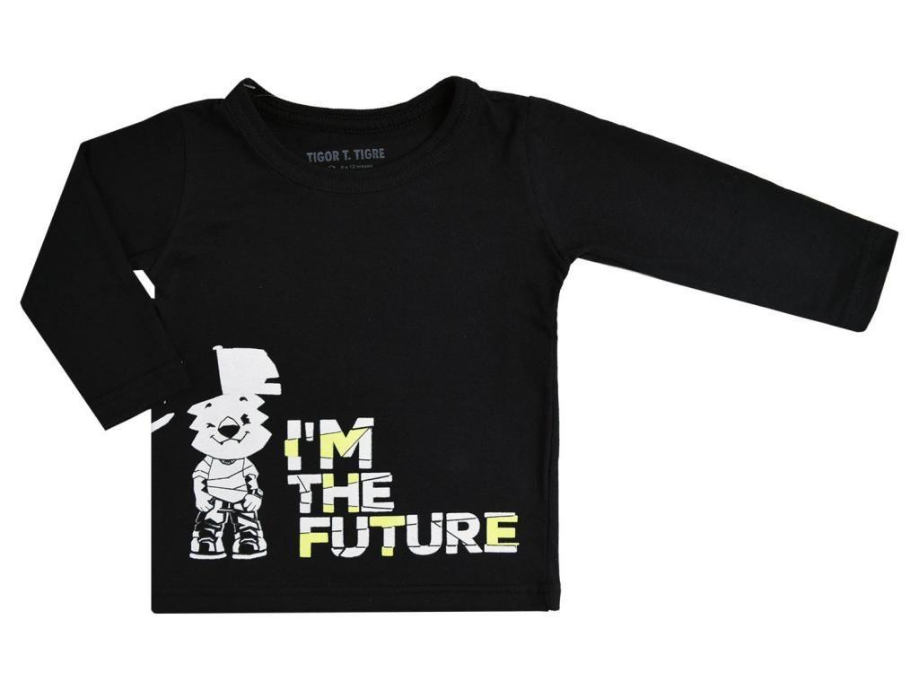 Camiseta Manga Longa Preta Tigor T. Tigre Baby