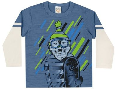 Camiseta Manga Longa Primeiros Passos Masculina Boca Grande