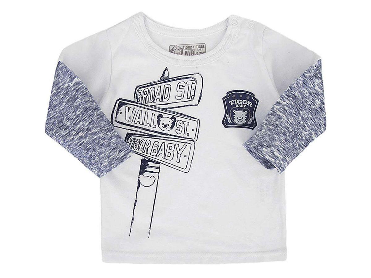 Camiseta Manga Longa Sobreposta Tigor T. Tigre