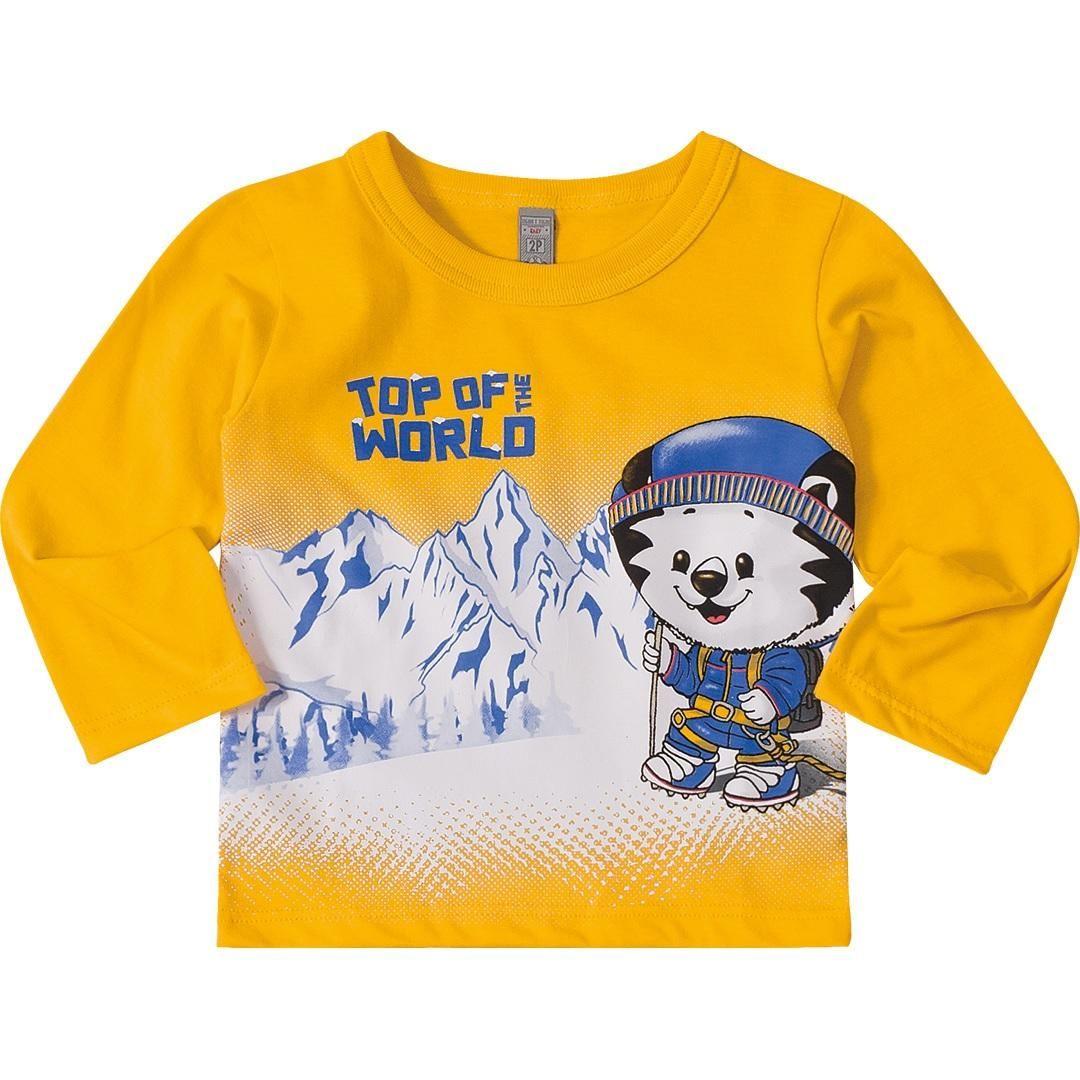 Camiseta Manga Longa Tigor T.Tigre Amarela 10205847