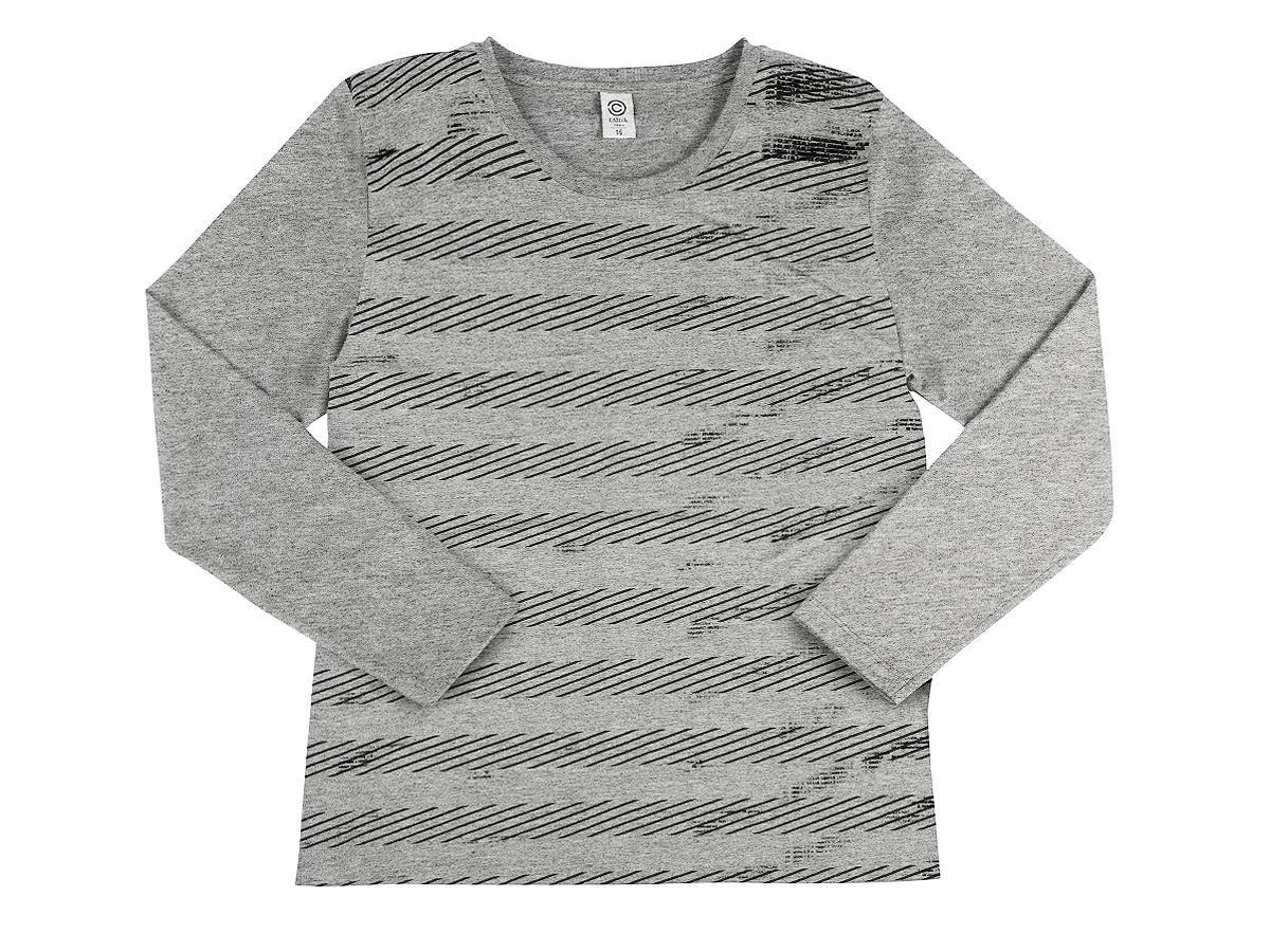 Camiseta Masculina Manga Longa Cinza Cativa C60276