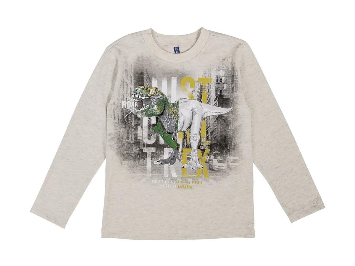 Camiseta Masculina Manga Longa Dinossauro Cativa C60400