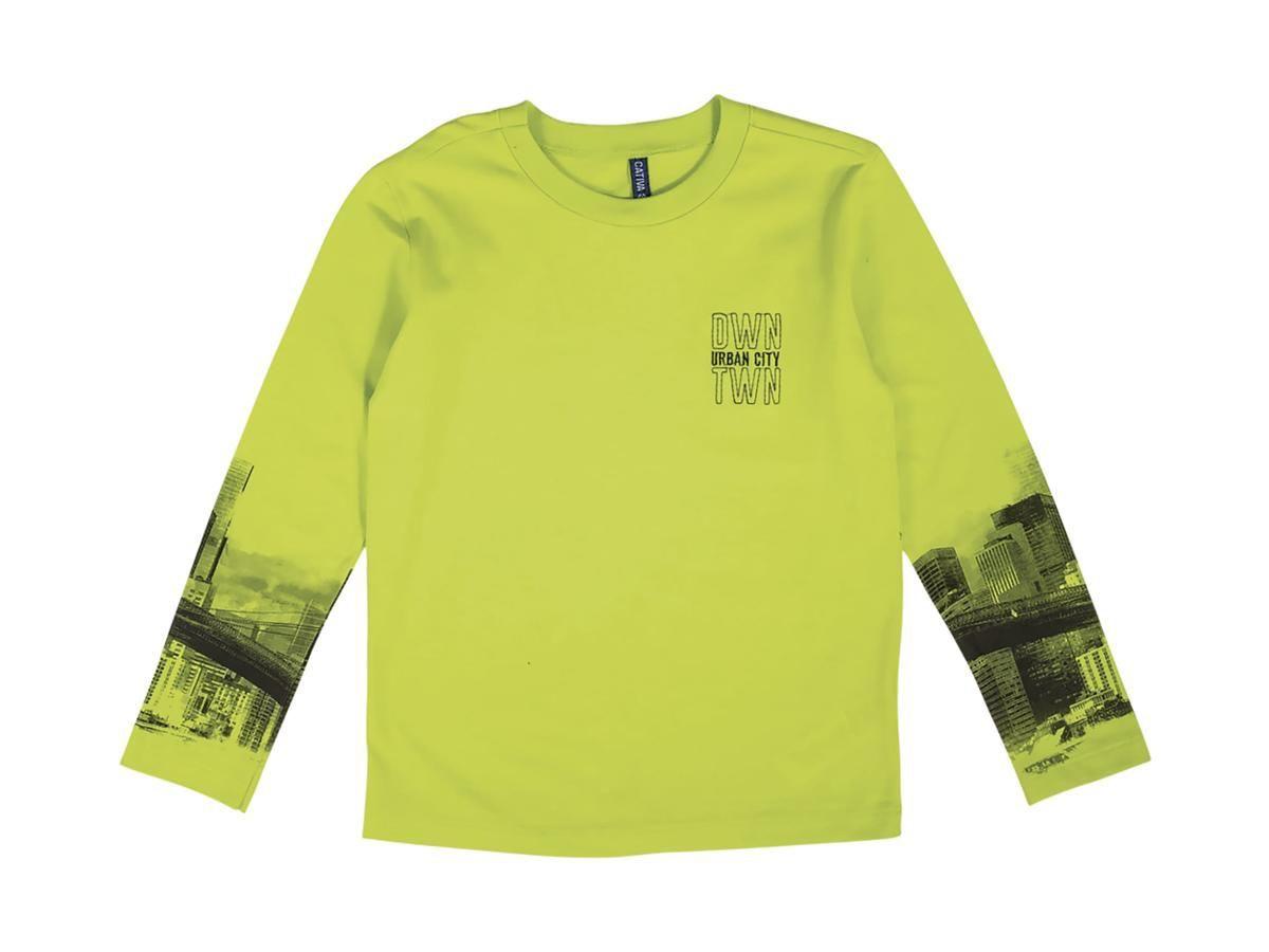 Camiseta Masculina Manga Longa Verde Cativa C60399