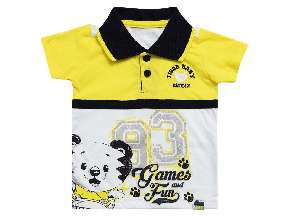 Camiseta Polo Manga Curta Tigor T.Tigre