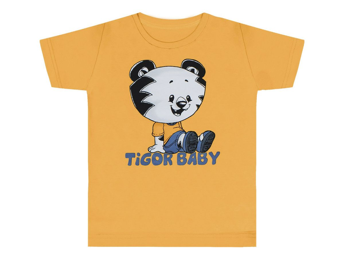 Camiseta Tigor T.Tigre Estampada Amarela