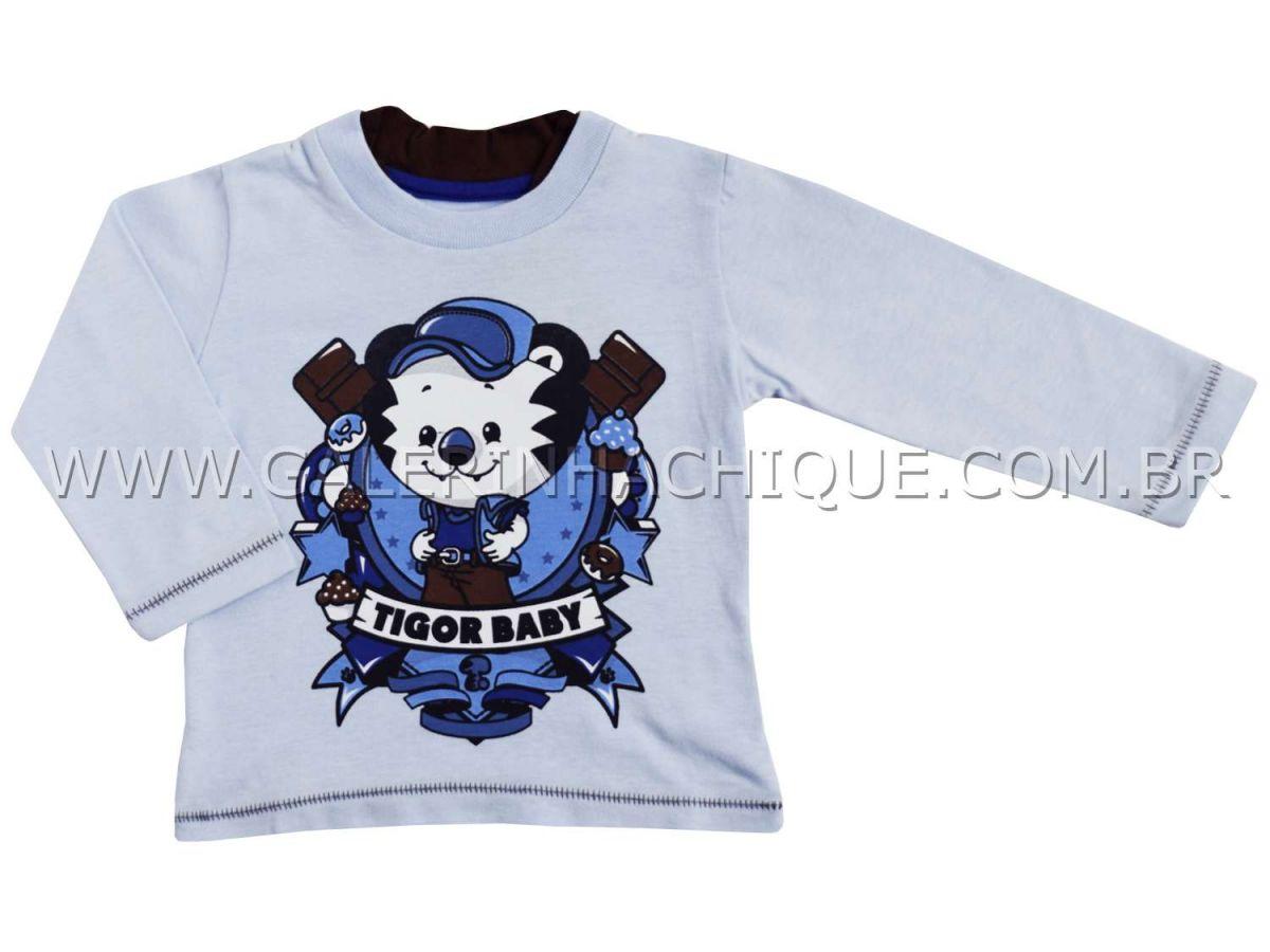 Camiseta Tigor T.Tigre Manga Longa Símbolo