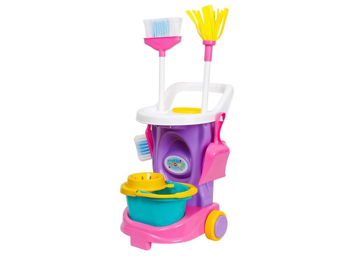 Carrinho de Limpeza Infantil + Acessórios Cleaning Trolley Maral