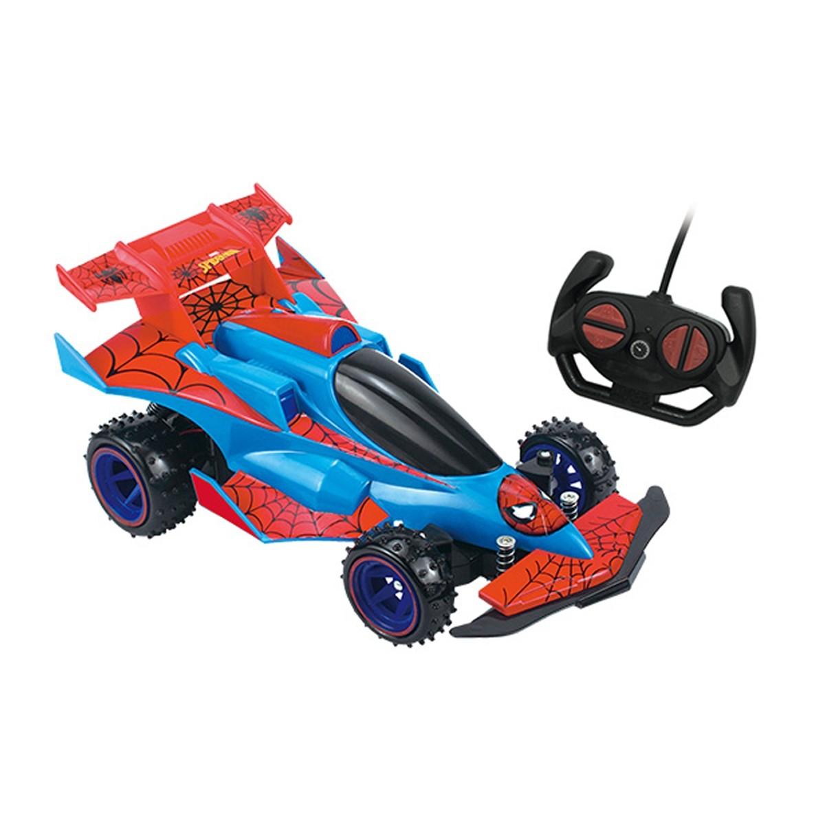 Carro Controle Remoto Spider-Man Web Runner - Bateria Recarregável - Candide 5848