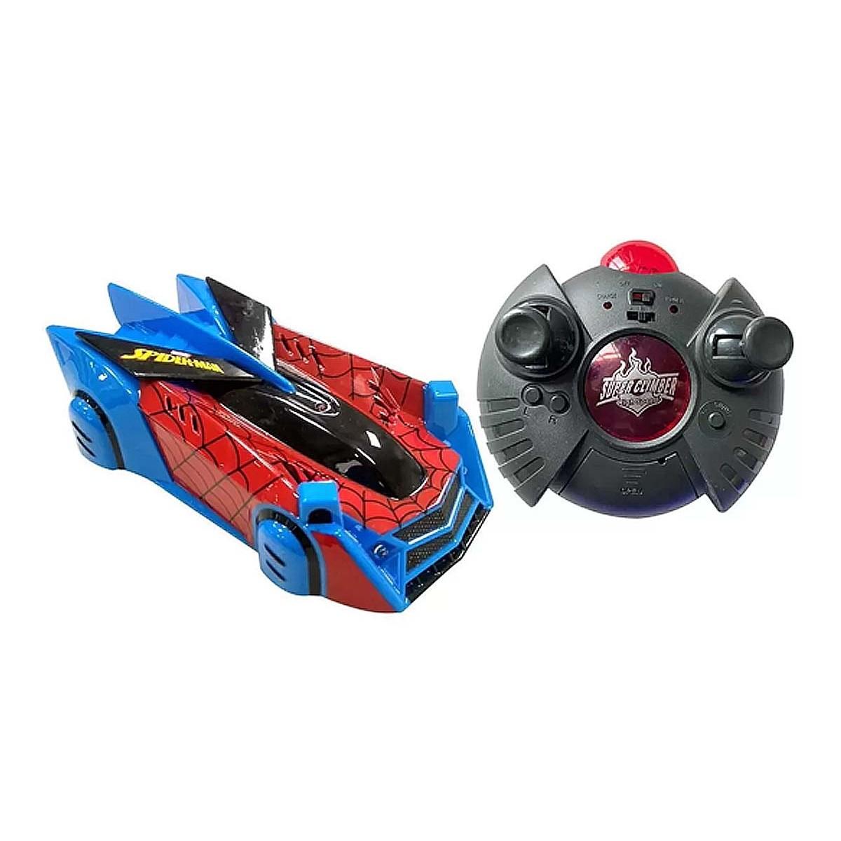 Carro Controle Spider-Man Web Climber Anda na Parede e Teto - Bateria Recarregável  - Candide