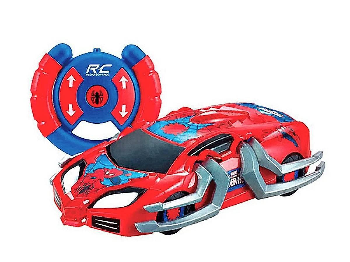 Carro de Controle Remoto Spider-Man Web Crasher 7 Funções Recarregável Candide
