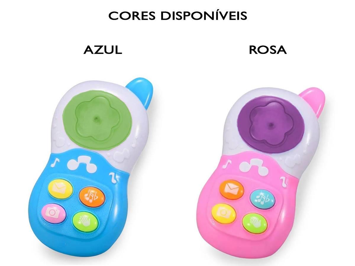 Celular Musical Interativo para Bebê Com Luz Kitstar
