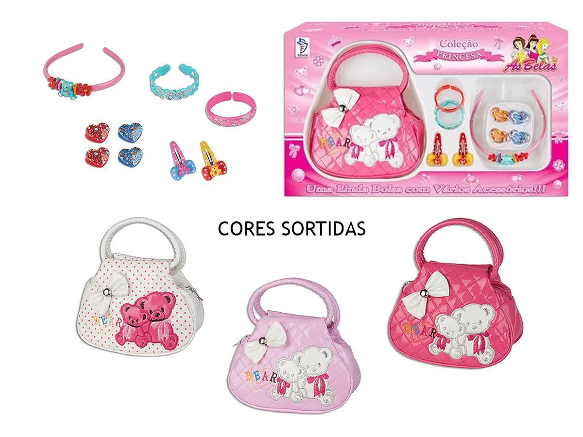 Coleção Princesas Kit Bolsa e Acessórios Sortidos Fenix