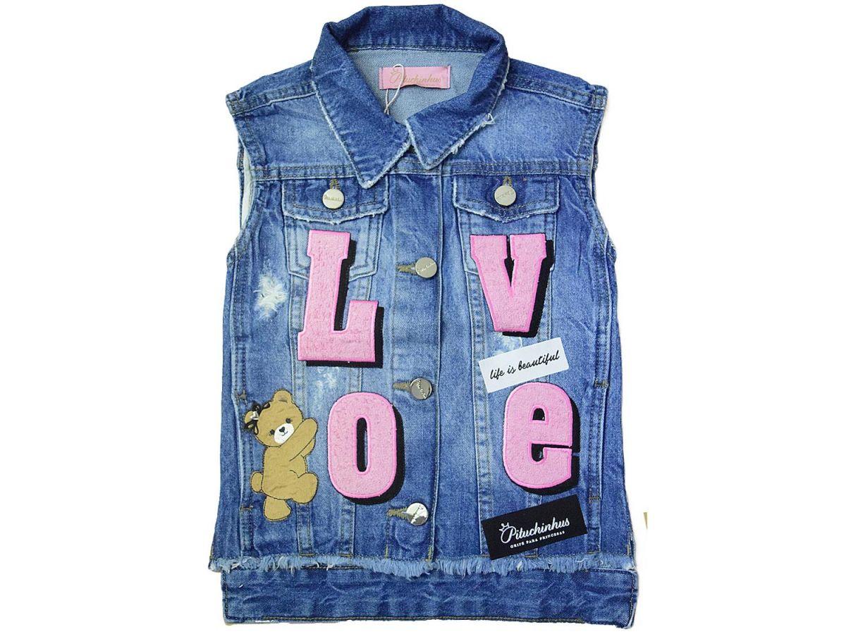 Colete Jeans Pituchinhus 19661