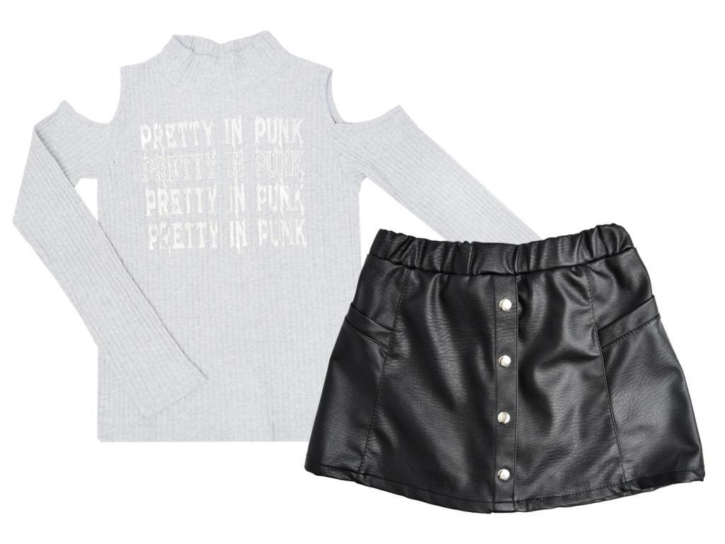 Conjunto Blusa e Saia Short Le Petit