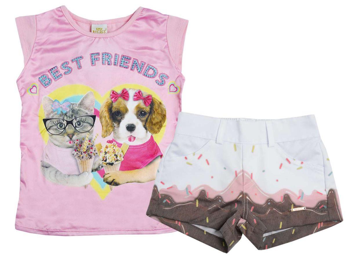 Conjunto Blusa e Shorts Estampados Bugbee