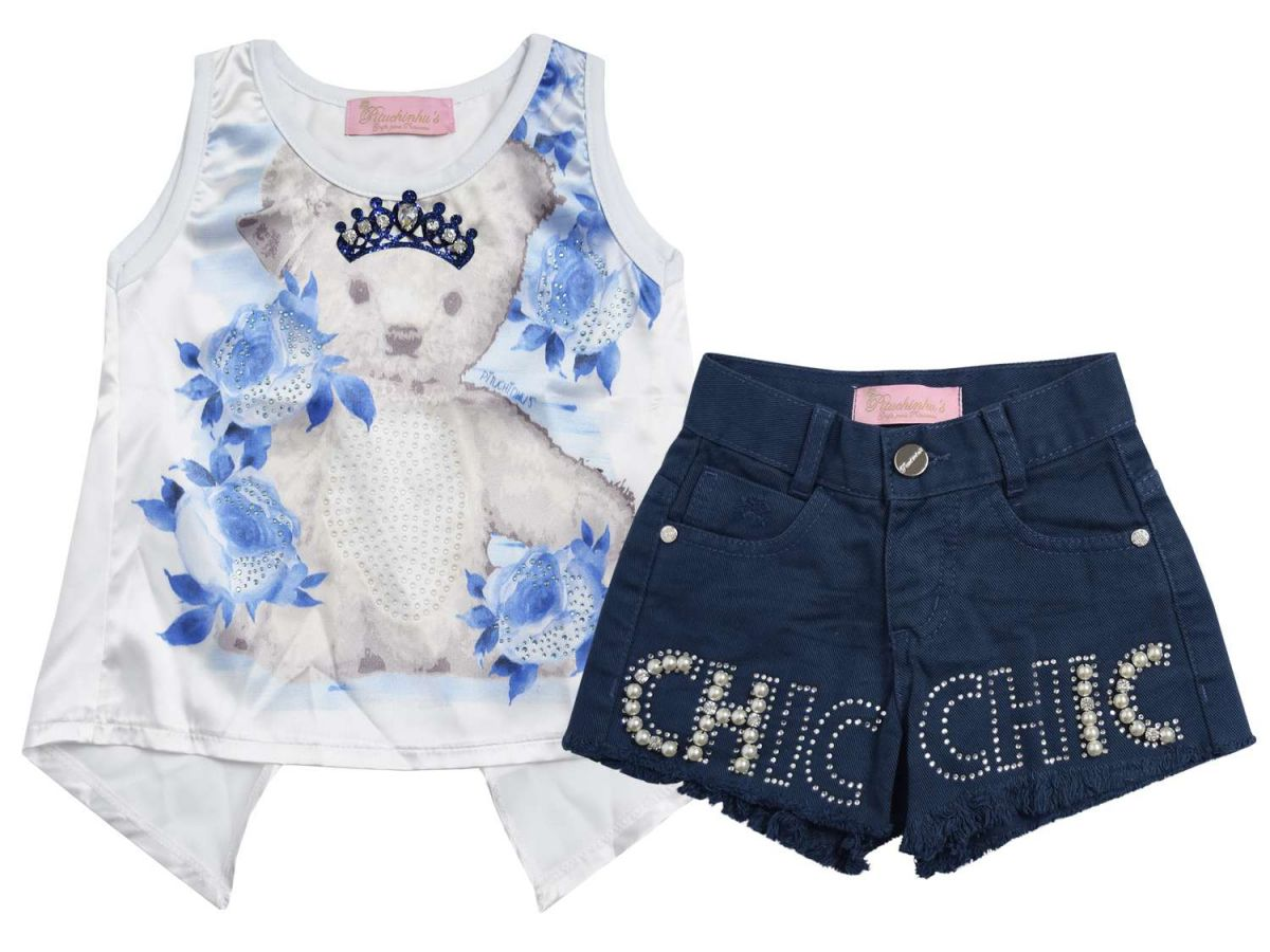 Conjunto Blusinha e Shorts Pituchinhus