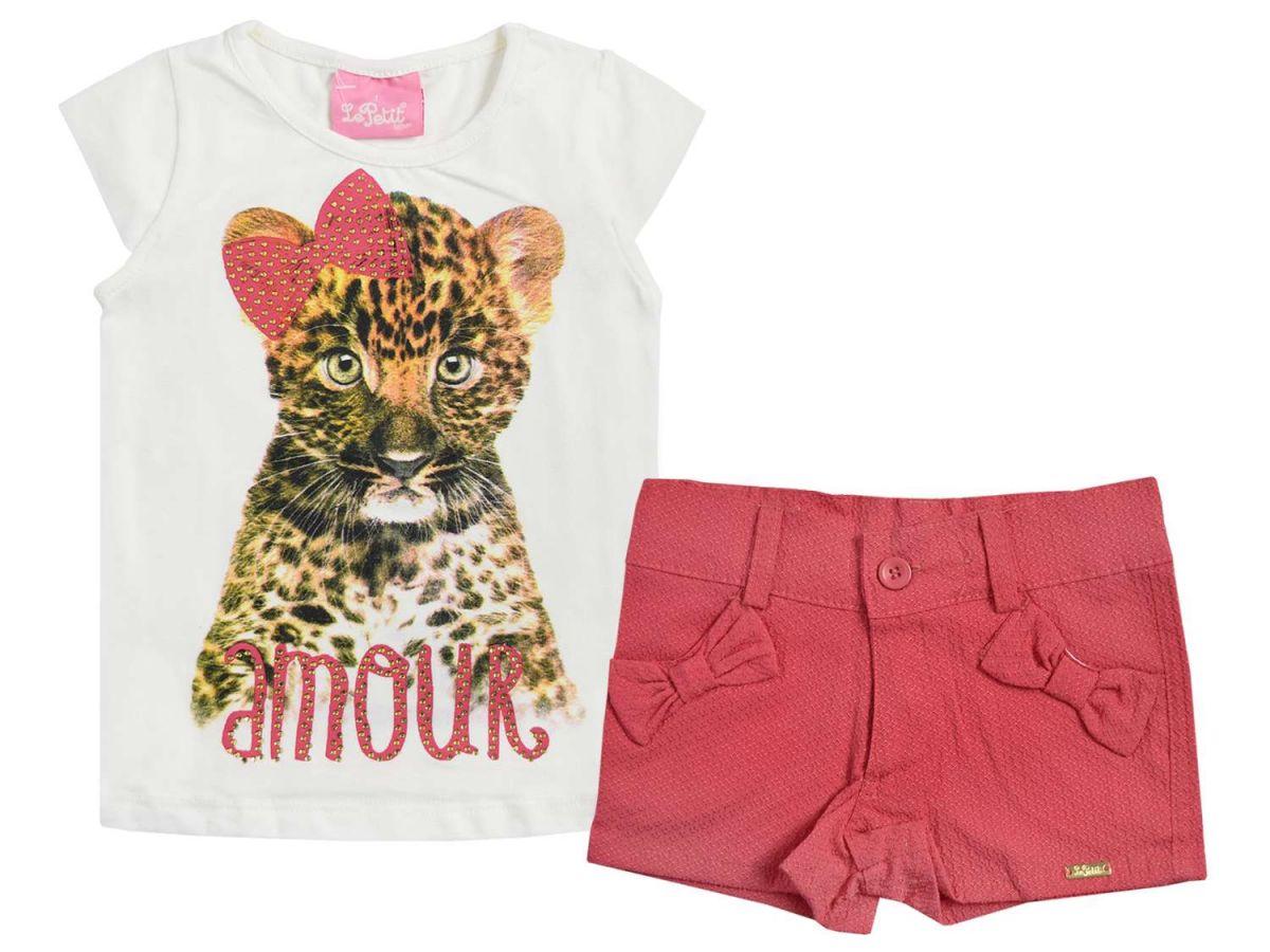 Conjunto Blusinha e Shorts Rosa Le Petit