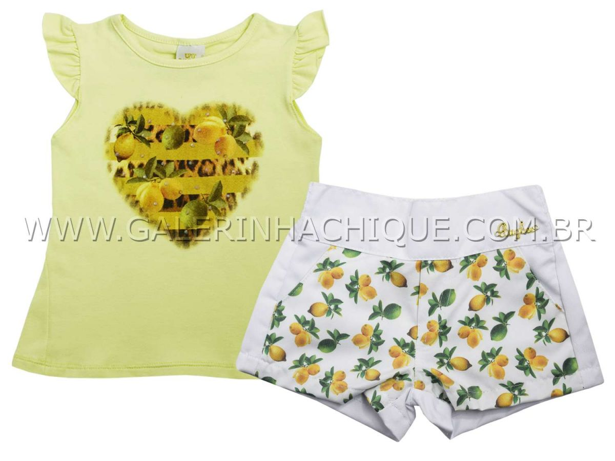 Conjunto Bugbee Blusinha e Shorts Limões