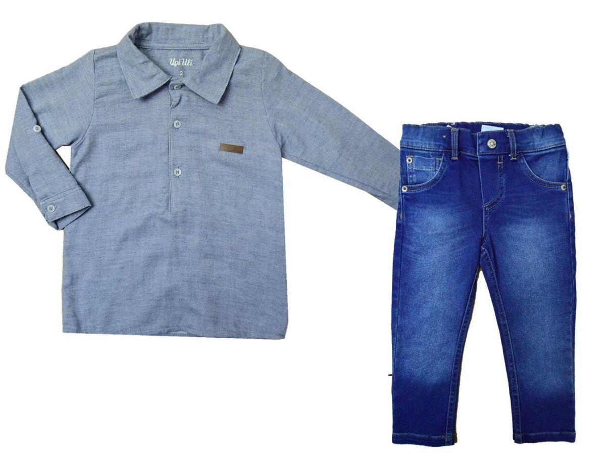 Conjunto Camisa Manga Longa e Calça Jeans Upi Uli 8514
