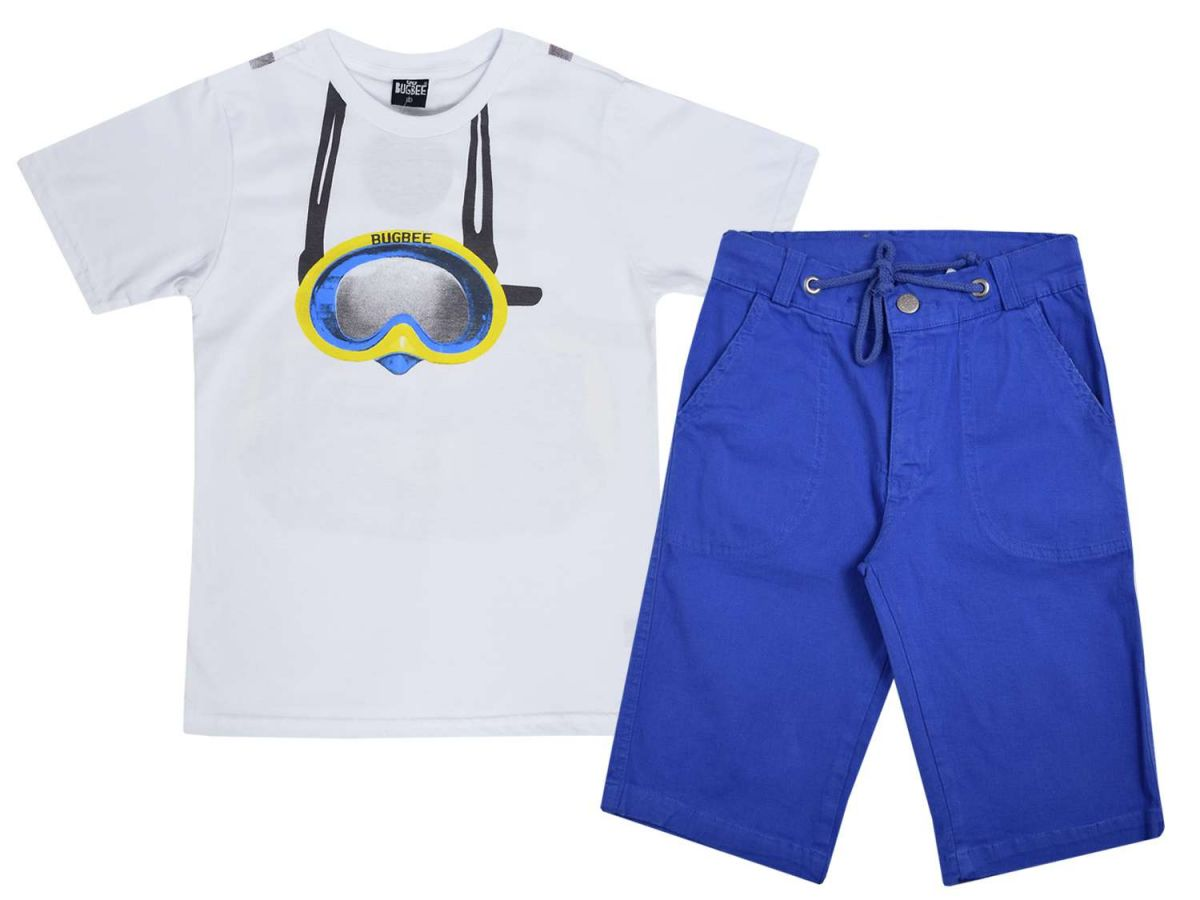 Conjunto Camiseta e Bermuda Azul Bugbee
