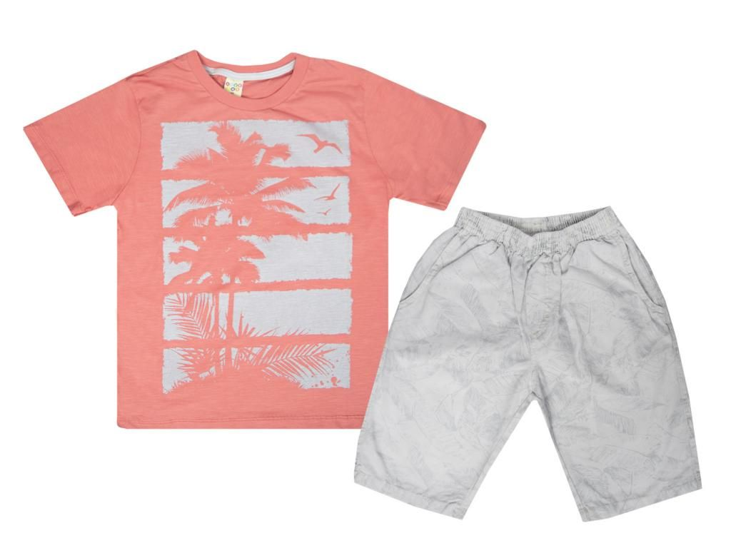 Conjunto Camiseta e Bermuda Estampada Have Fun