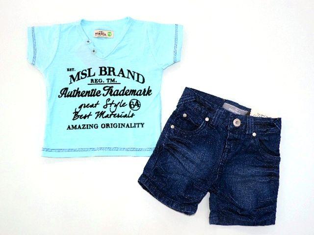 Conjunto Camiseta e Bermuda Jeans Marisol