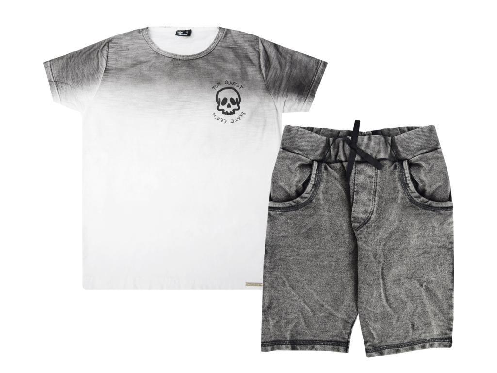 Conjunto Camiseta e Bermuda Moletom Tom Quest