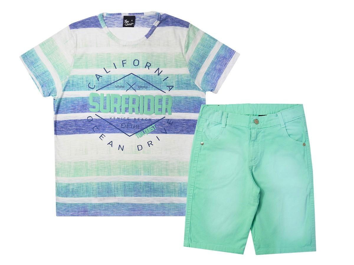 Conjunto Camiseta e Bermuda Sarja Tom Quest 707300