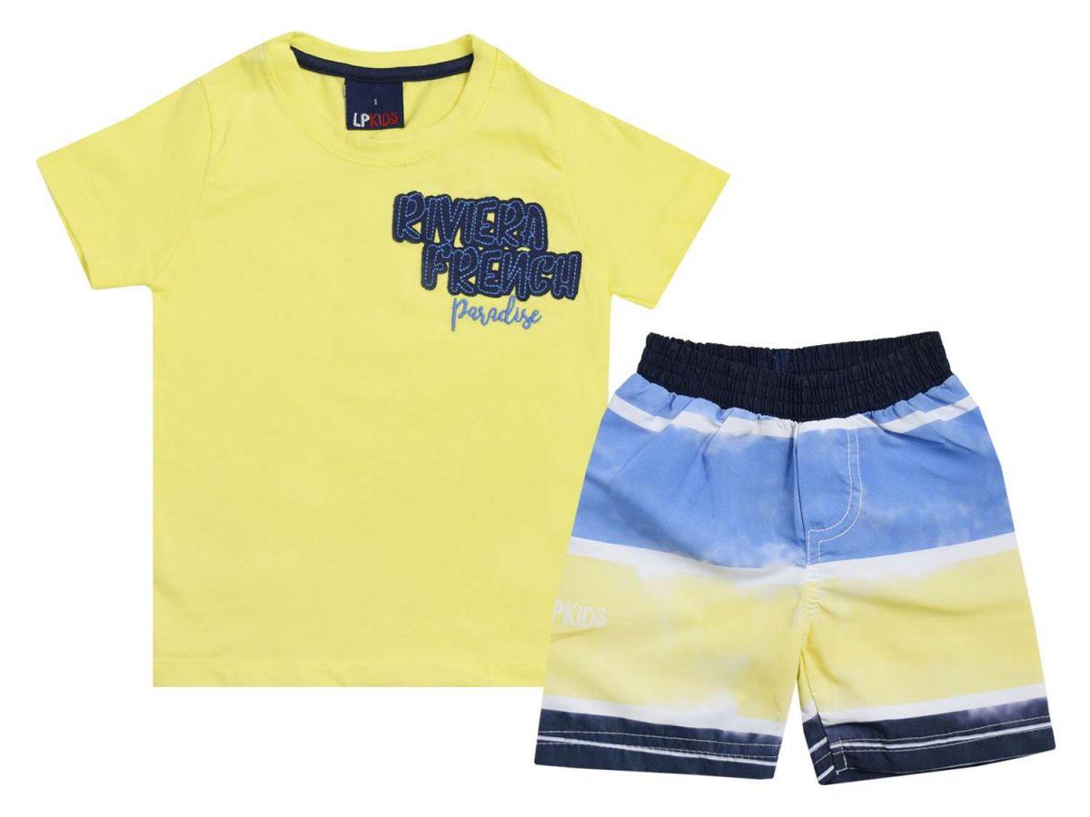 Conjunto Camiseta e Bermuda Tactel Le Petit
