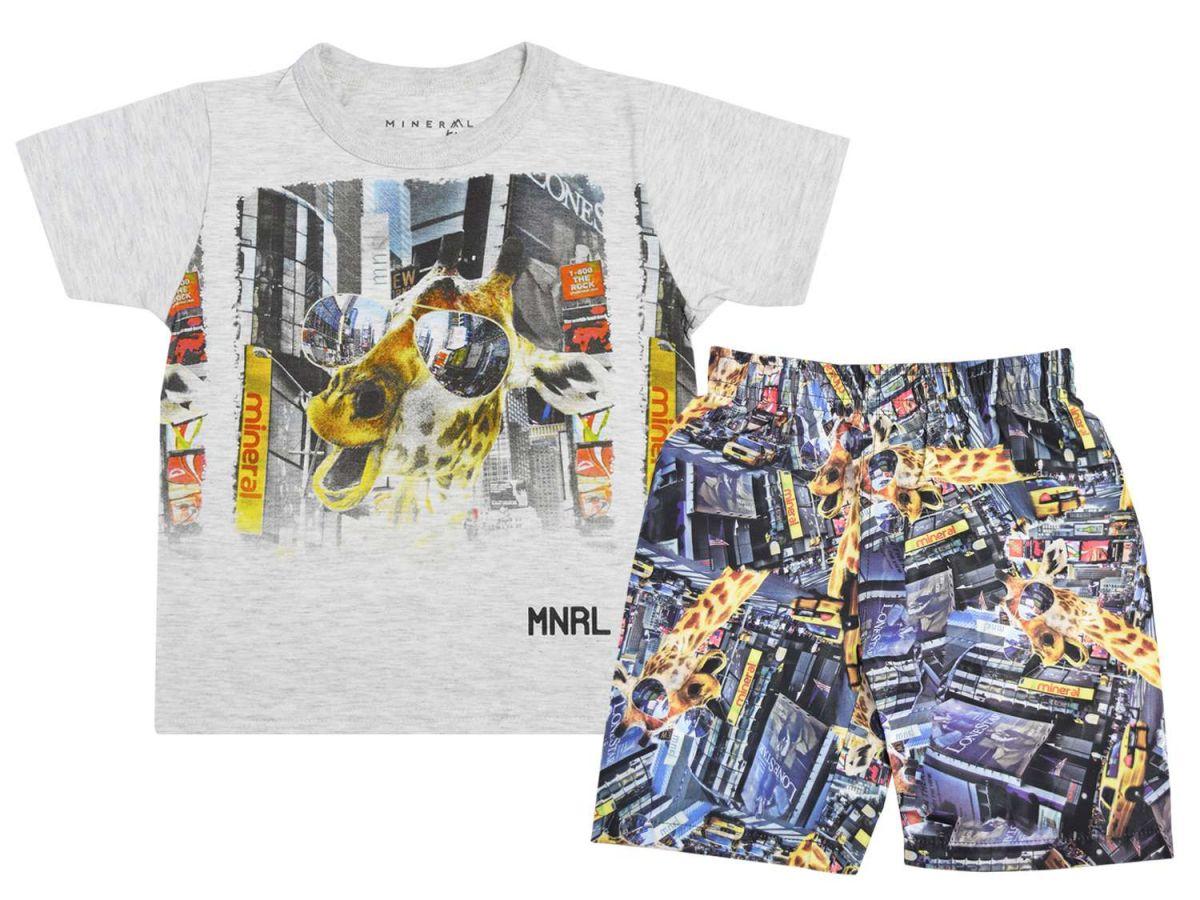Conjunto Camiseta e Bermuda Tactel Mineral Kids