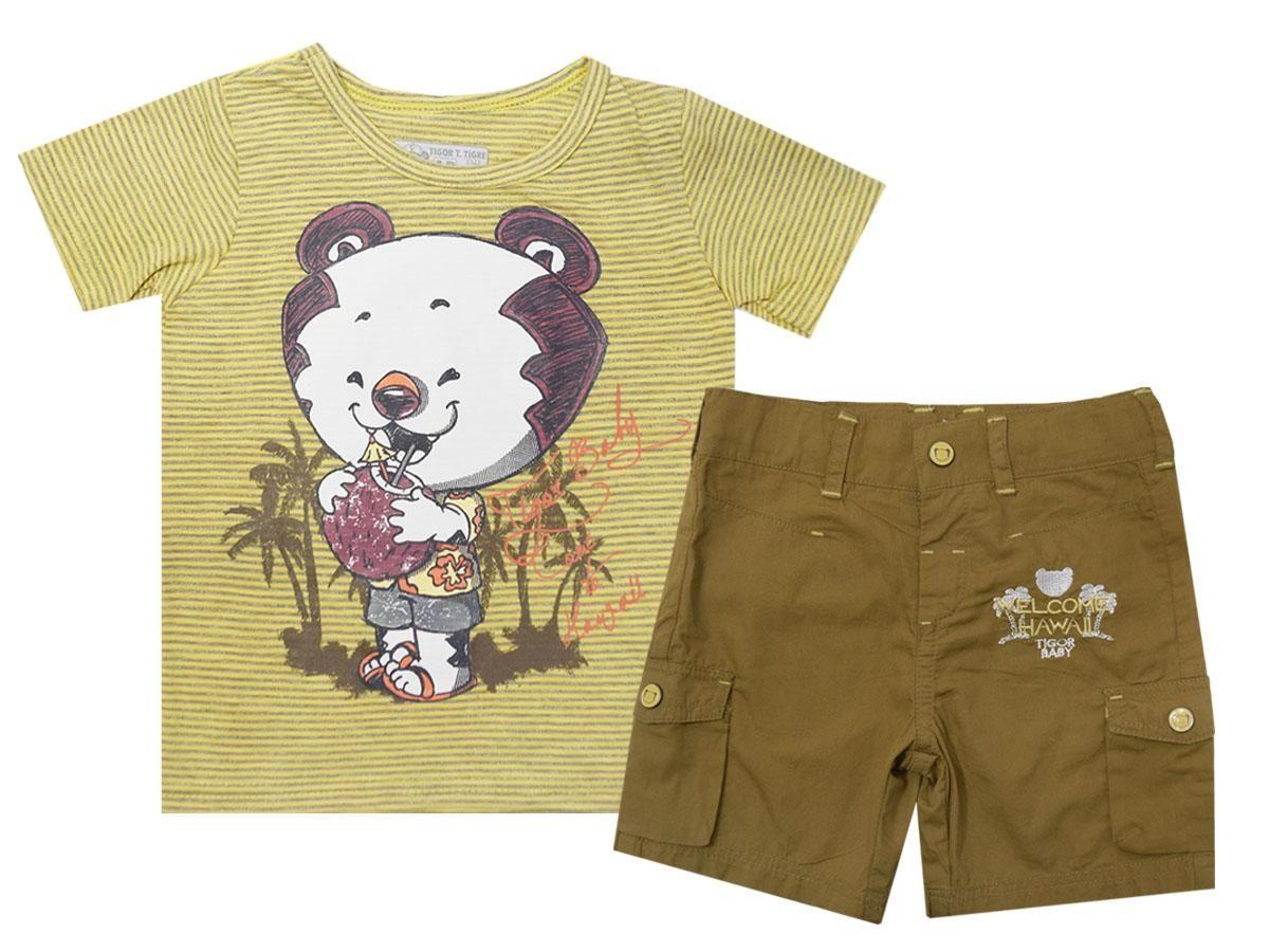 Conjunto Camiseta e Bermuda Tigor T.Tigre 10201512