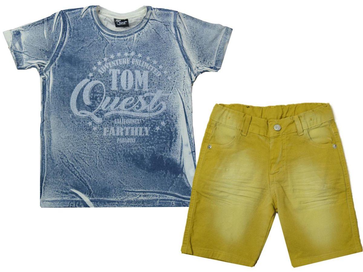 Conjunto Camiseta e Bermuda Tom Quest C0818609056