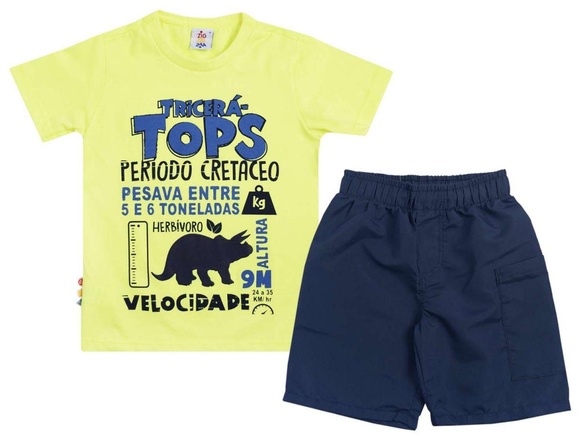 Conjunto Camiseta e Bermuda Zig Zig Zaa