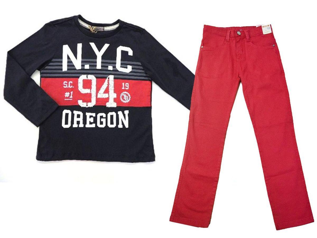 Conjunto Camiseta e Calça Colors Turma Da Malha