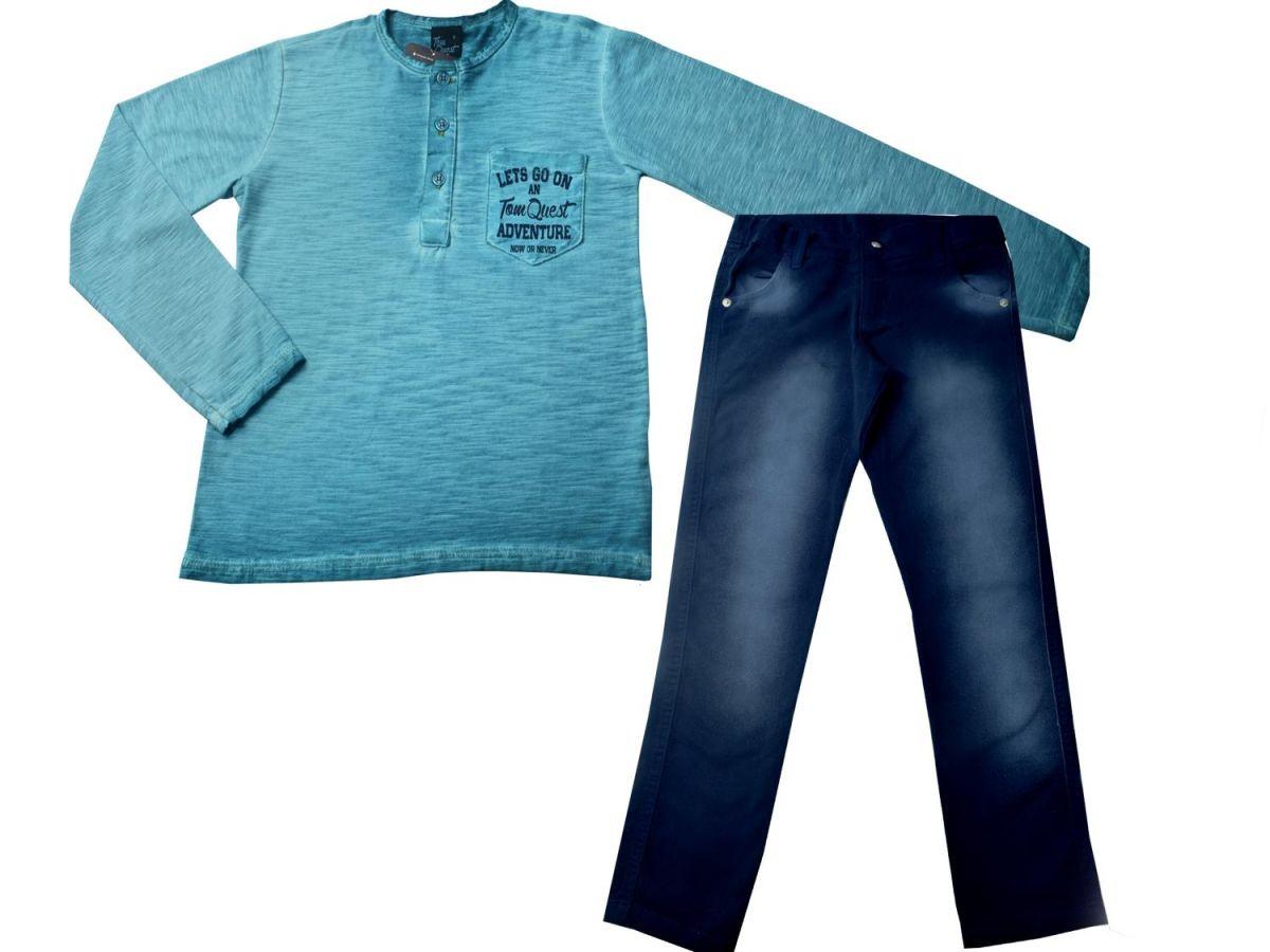Conjunto Camiseta Manga Longa e Calça  Le Petit