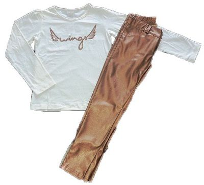 Conjunto Camiseta Manga Longa e Calca Metalizada BugBee
