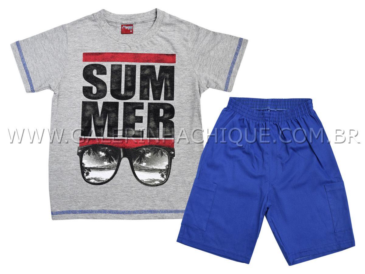 Conjunto Camiseta Summer e Bermuda