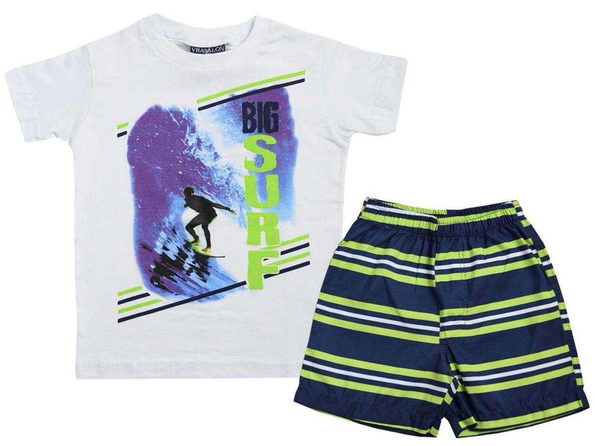 Conjunto Camiseta Surf e Bermuda Vrasalon