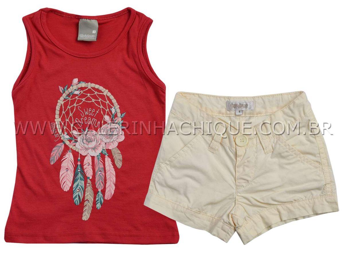 Conjunto Carinhoso Blusinha Sweet Dreams e Shorts